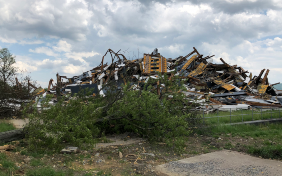 Martin Tower debris pile