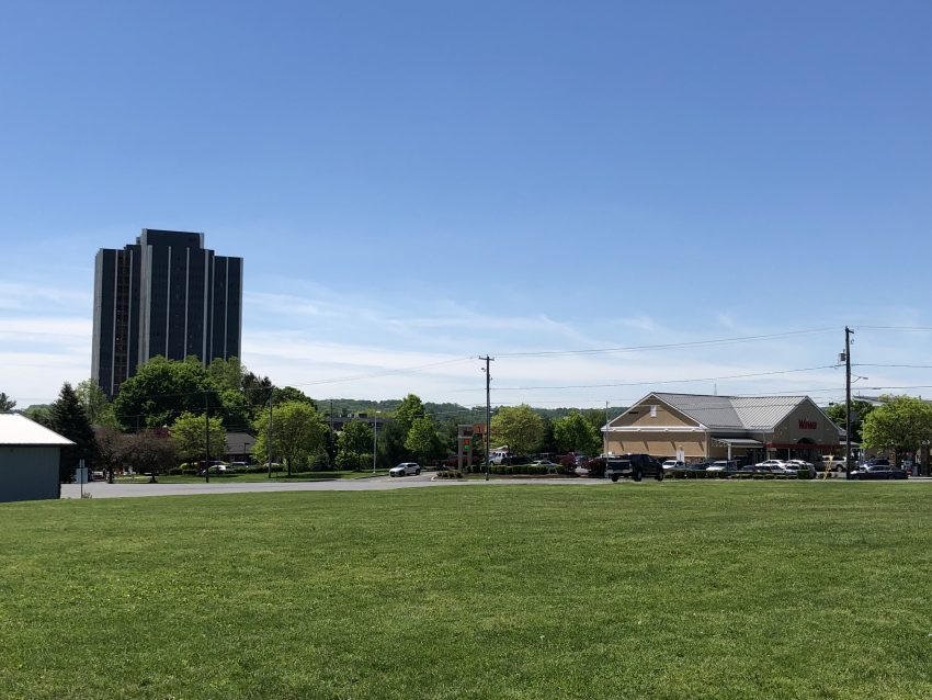 Martin Tower and Wawa Viewed from Bethlehem Municipal Park