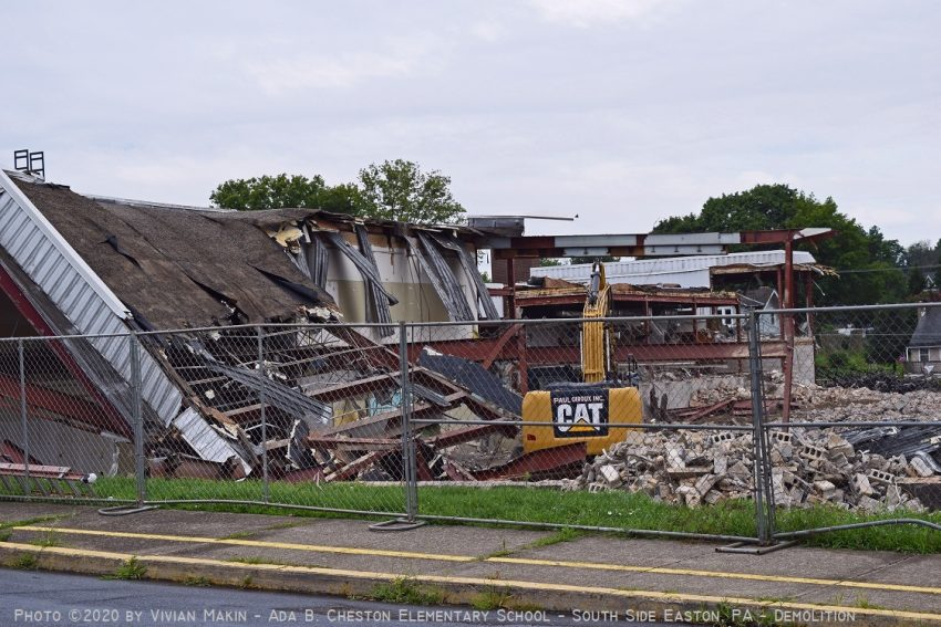 Demolition of the old Ada B. Cheston Elementary School