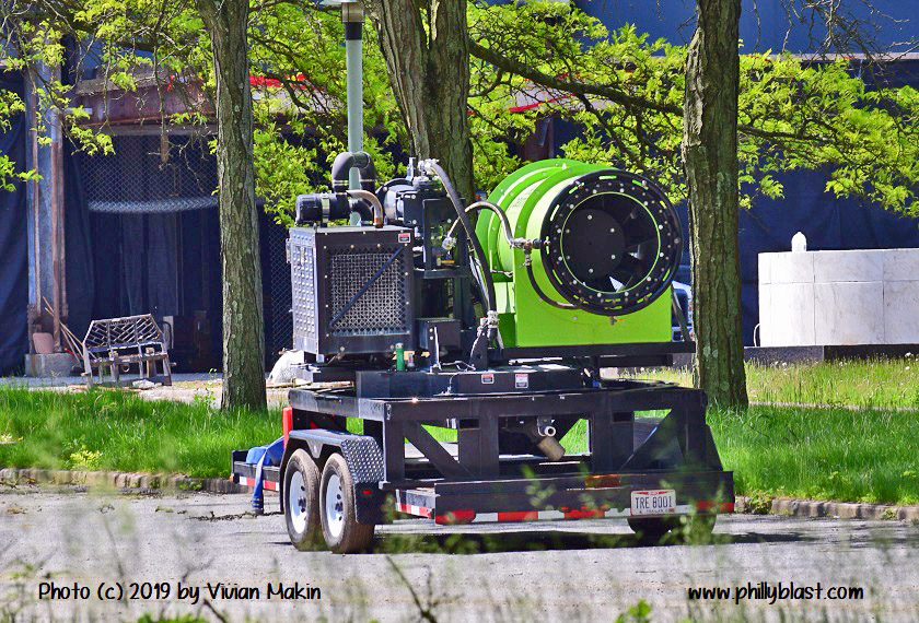 Water sprayer for implosion day