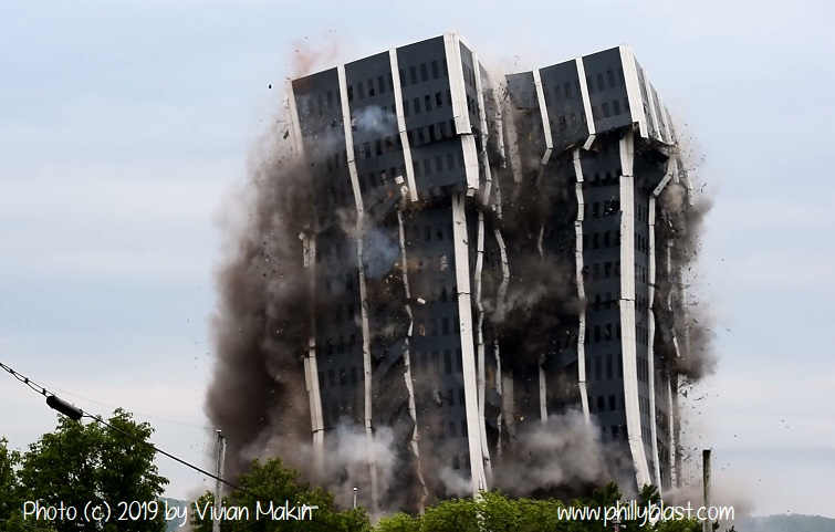 Martin Tower Implosion
