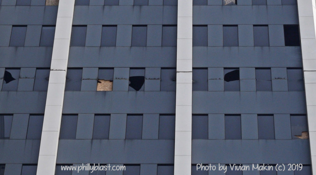 Martin Tower demolition, horizontal cut through 17th floor facade